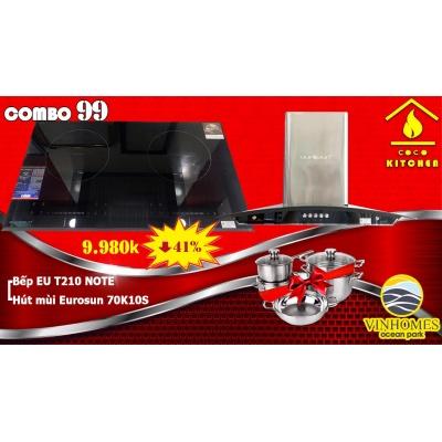 COMBO BẾP TỪ EUROSUN EU-T210NOTE+HÚT MÙI EUROSUN EH-70K10S