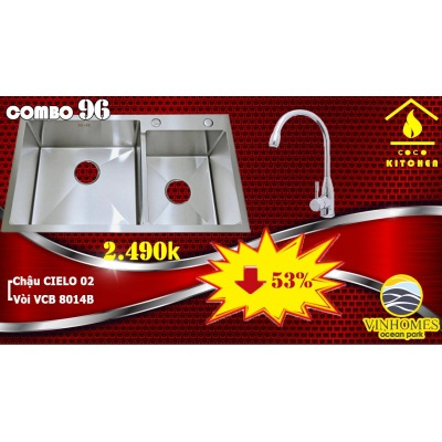 COMBO CHẬU CIELO 02+VÒI 8014