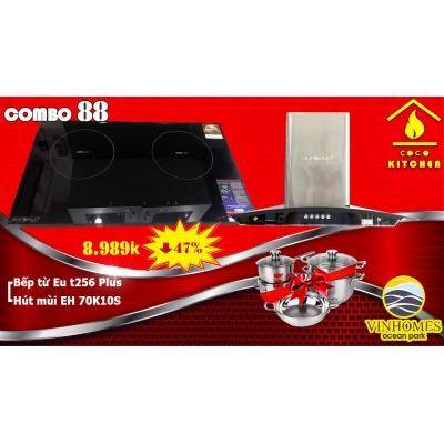 COMBO BẾP TỪ EUROSUN EU-T256PLUS+HÚT MÙI EUROSUN EH-70K10S